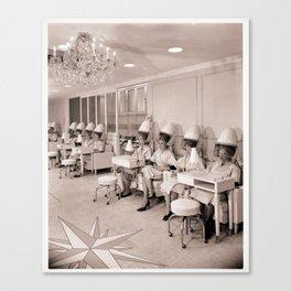 Vintage Hair Salon Canvas Print