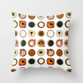 Diffent Sides of Coffee Throw Pillow