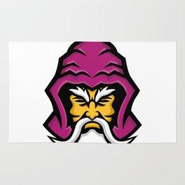 Wizard Head Front Mascot Rug