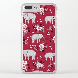 Alabama university crimson tide elephant pattern college sports alumni gifts Clear iPhone Case