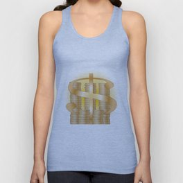 Piles of Coins Unisex Tank Top