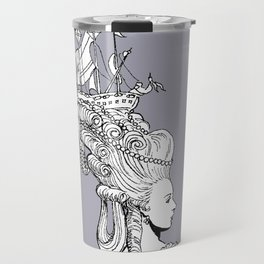Girl With Ship Travel Mug
