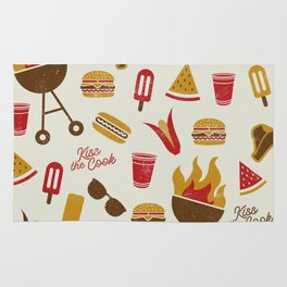 Kiss the Cook Summer BBQ Rug