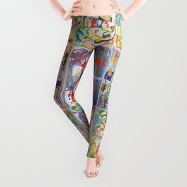 Shamanic Painting 1-9 Leggings