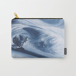 'Snowboarding Blue Blower' Carry-All Pouch