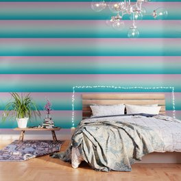 Pastel Ombre Pink Blue Teal Gradient Pattern Wallpaper