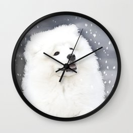 """ Winter's Touch "" Wall Clock"