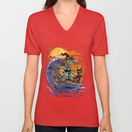 Witch At The Beach Unisex V-Neck