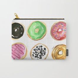 Dozen of colorful donuts Carry-All Pouch