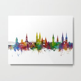 Lubeck Germany Skyline Metal Print