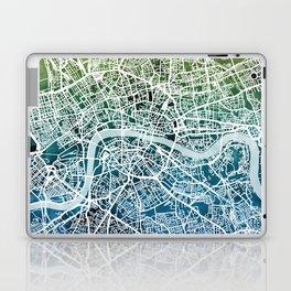 London England Street Map Laptop & iPad Skin