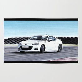 TOYOTA GT86 AUTOMOBILE DRIFTING ON SUNNY TRACK Rug