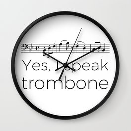 I speak trombone Wall Clock