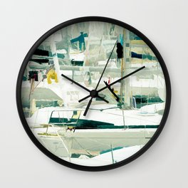 Harbour in the Bretagne II Wall Clock