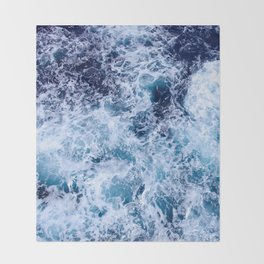 Sea Foam Throw Blanket