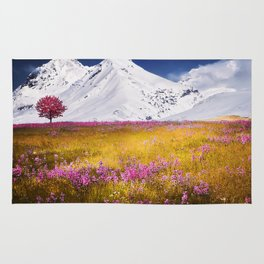 When Flowers Bloom And The Mountains Froze Rug