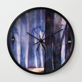 The lost Woods (second version) Wall Clock