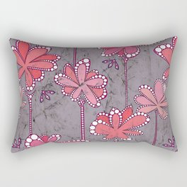 Batik Flower and bees Mauve Rectangular Pillow