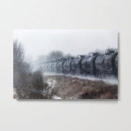 Winter Locomotion Metal Print