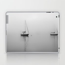 Foggy Harbor North Shore 6 BW Laptop & iPad Skin