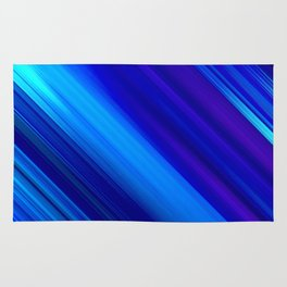 Abstract watercolor colorful lines painting Rug