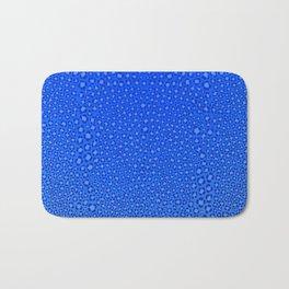 Wild Thing Cool Blue Leopard Print Bath Mat