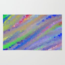 Crystallized Pastel Waves. Rug
