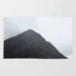 Looking up to the mountains, Glen Etive, Scotland Rug