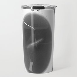black and white butterfly tea cup Travel Mug
