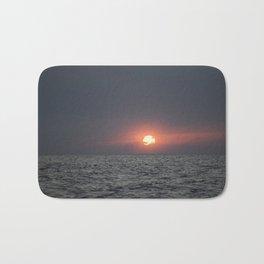 Sunset open sea Bath Mat