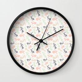 Abstract Rabbits Pattern Wall Clock
