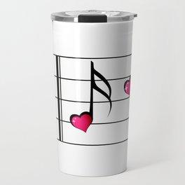 Music love concept Travel Mug