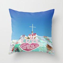 Salvation Mountain in the Californian Desert Throw Pillow