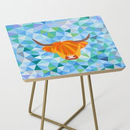 Highland Cow Side Table
