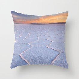 II - Salt flat Salar de Uyuni in Bolivia at sunrise Throw Pillow