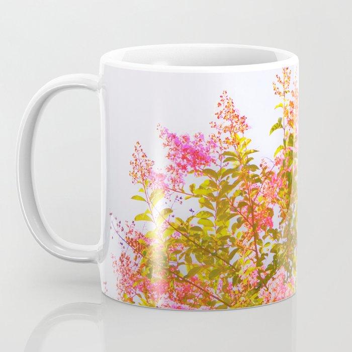 Pink Crepe Myrtle Flowers Coffee Mug