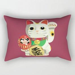 Maneki Neko - Lucky Cat Rectangular Pillow