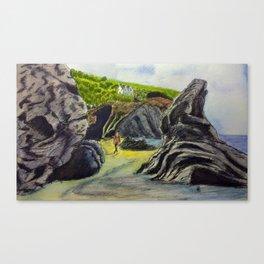 Llangrannog beach, Wales Canvas Print