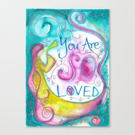 So Loved Canvas Print