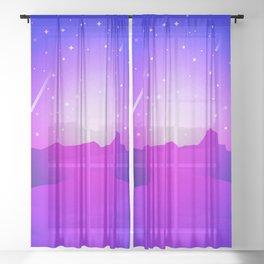 Purple Night Sheer Curtain