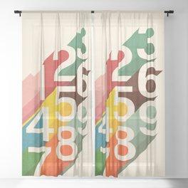 Retro Numbers Sheer Curtain