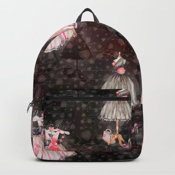 Black dress fashion #5 Backpack