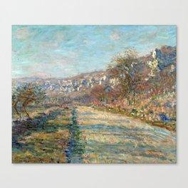 1880-Claude Monet-Road of La Roche-Guyon-60 x 73 Canvas Print
