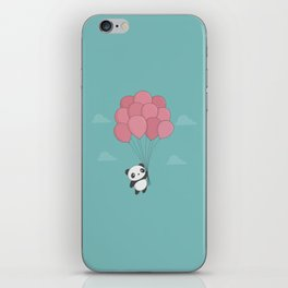 Kawaii Panda In The Sky iPhone Skin