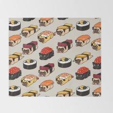 Sushi Pug Throw Blanket