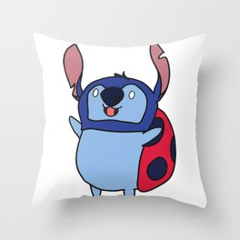 Catbug / Stitch Throw Pillow