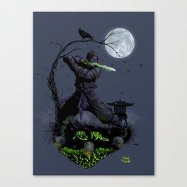 Demon Ninja Shit Canvas Print