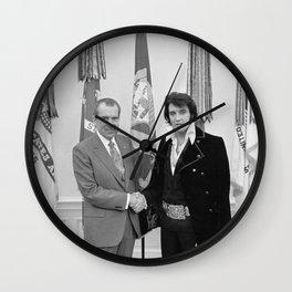 Elvis Meets Nixon Wall Clock
