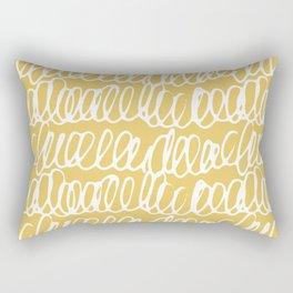 Doodles Waves Yellow Rectangular Pillow