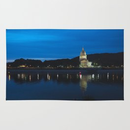 Charleston West Virginia Capitol at Blue Hour Rug